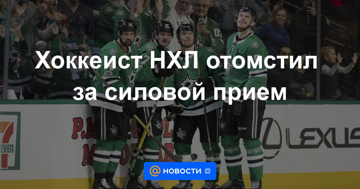 Хоккеист НХЛ отомстил за силовой прием НХЛ — Хоккей