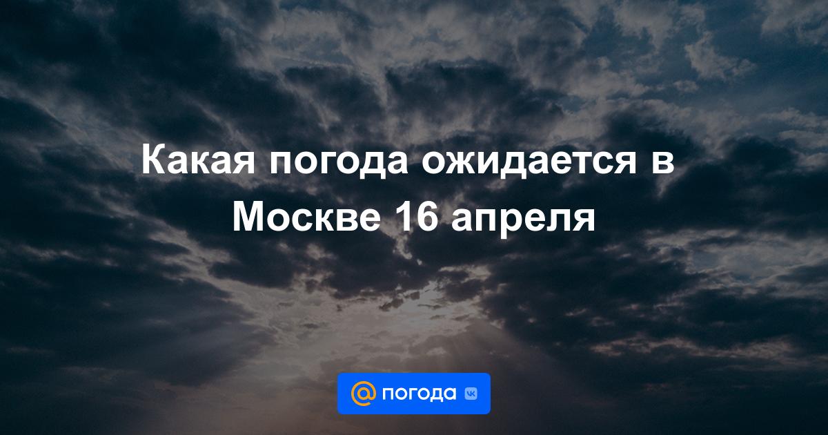 Какая погода ожидается в Москве 16 апреля