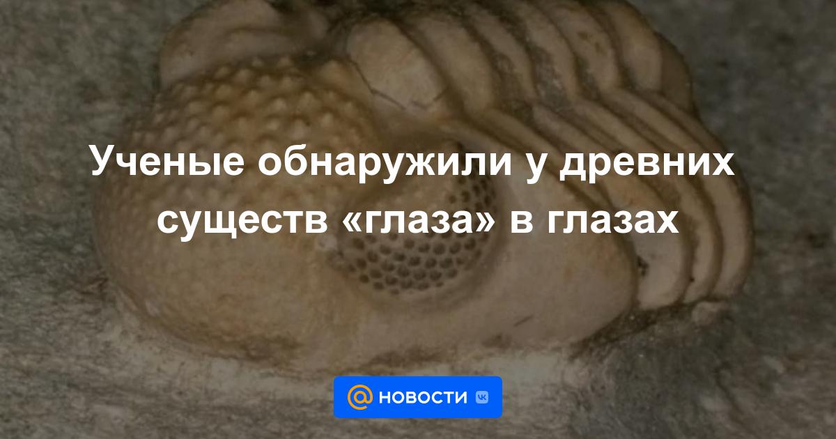 Ученые обнаружили у древних существ «глаза» в глазах