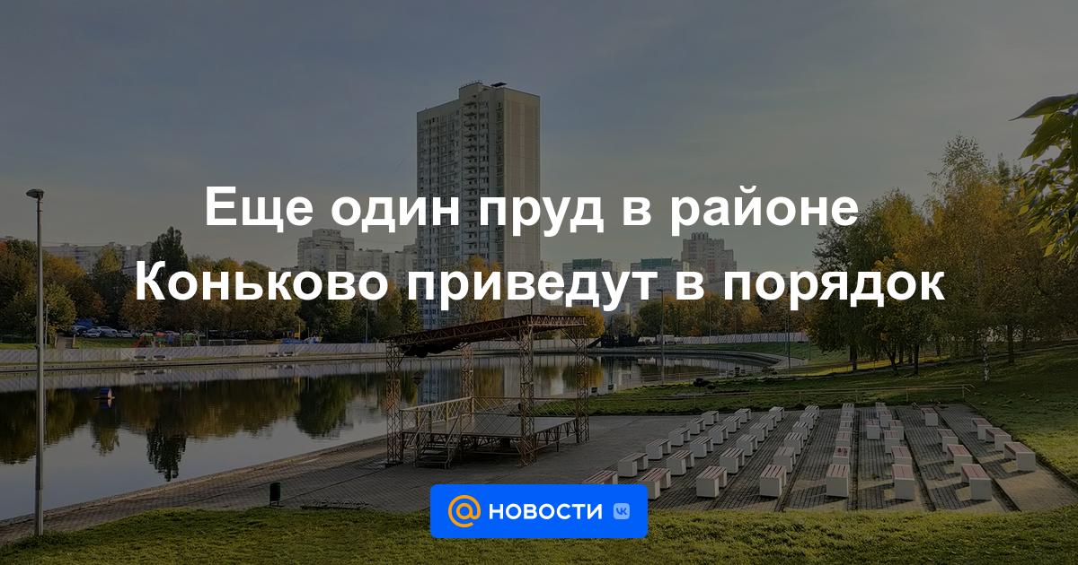Еще один пруд в районе Коньково приведут в порядок